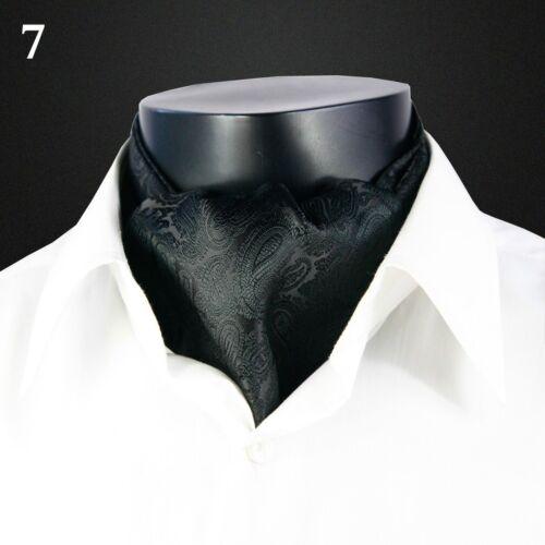 Mens Faux Silk Scarf Dots Long Scarves Wraps Paisley Cravat Dusky 125X15XCM New