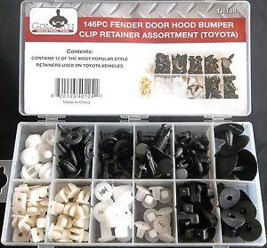 146PCS Fender Door Hood Bumper Clip Body Retainer Assortment Fit For Toyota Part