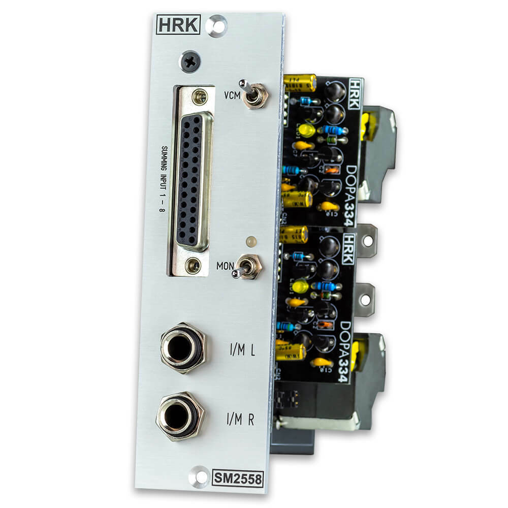 SM2558   Active Transformer Discrete 10 Inputs 500 Summing Mixer - Stereo Output
