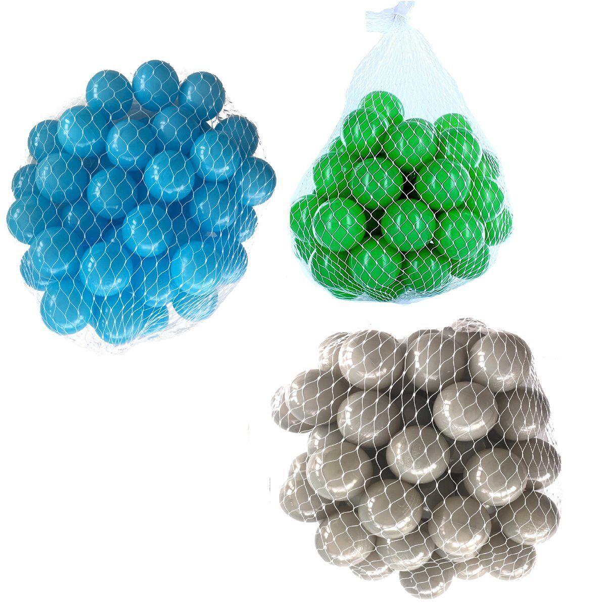 150-9000 Bällebad Bälle 55mm mix türkis grau grün gemischt Farben Baby Kind Ball