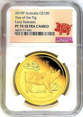 2020 P Australia PROOF GOLD $15 Lunar Year of the Mouse NGC PF70 1//10 oz Coin FR