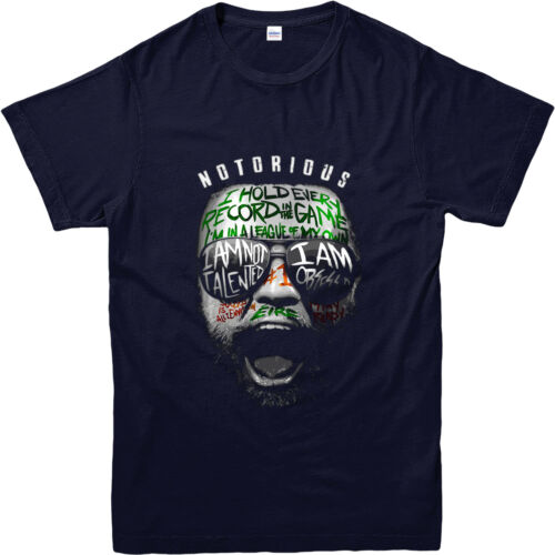 Conor Mcgregor T-Shirt UFC Conor Face Writing T-Shirt Inspired Design Top