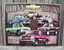 Sign Chevrolet Classic Truck Since 1918 Vintage Metal New Nostalgic Collectible