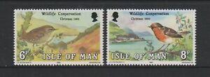 Isle of Man - 1980, Christmas, Birds set - MNH - SG 181/2