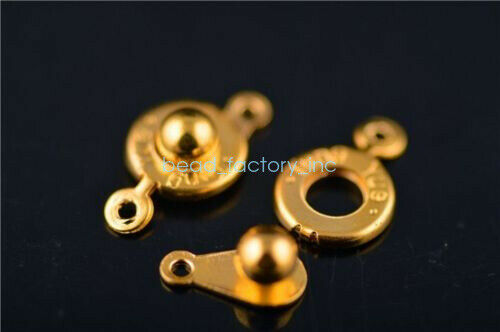17x10mm 50 Sets charms métal collier bracelet Connecteurs Snap Fastener Fermoirs