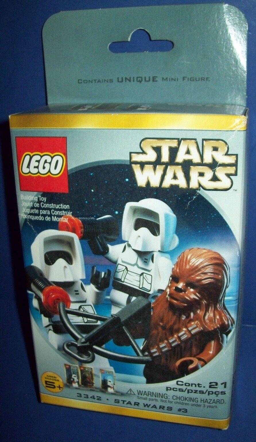 LEGO Star Wars 3342  2 Chewbacca Biker Scout  New Factory Sealed HTF