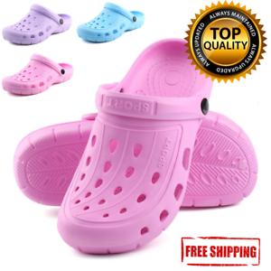 women-Clogs-Shoes-Garden-Water-Slip-On-Mule-Sandal-Rubber-Nurse-Outdoor-Classic