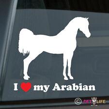 I Love my Arabian Sticker Die Cut Vinyl Ver 3 Arab Horse Trailer