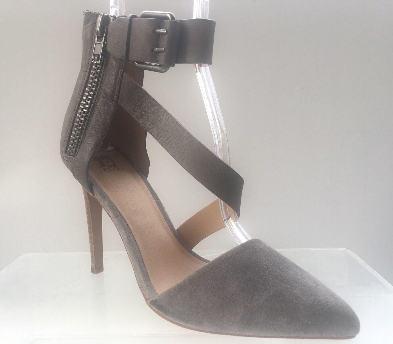 Joe's Ali Pointed Toe Gray Grau Suede Ankle Strap Pump Größe 8.5 Medium NEU