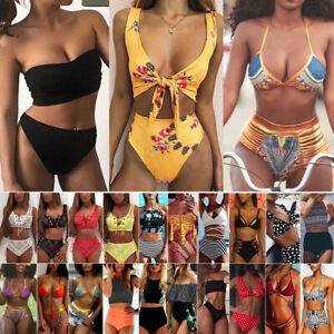 94deb42ac242c Women's Padded Push Up Bikini Set High Waisted Swimsuit Bathing Suit ...