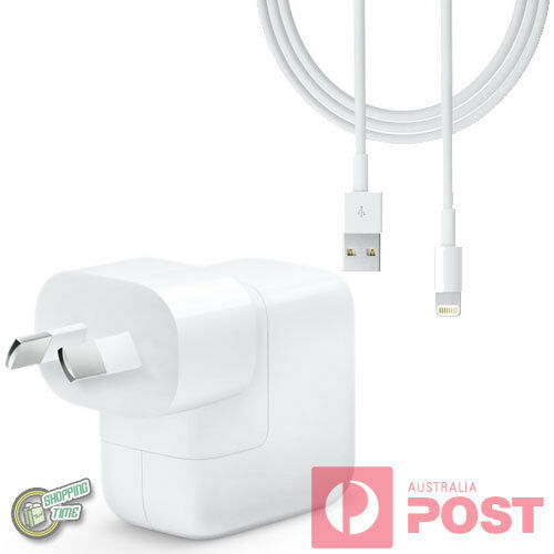 Original Genuine Apple iPad Pro 9.7 10.5 12.9 2017 AC WALL CHARGER + USB Cable