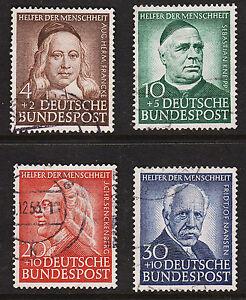 1953 Germany Semi Postal Set Sc#B334-B337 Good used Sound Well Centered Set VF