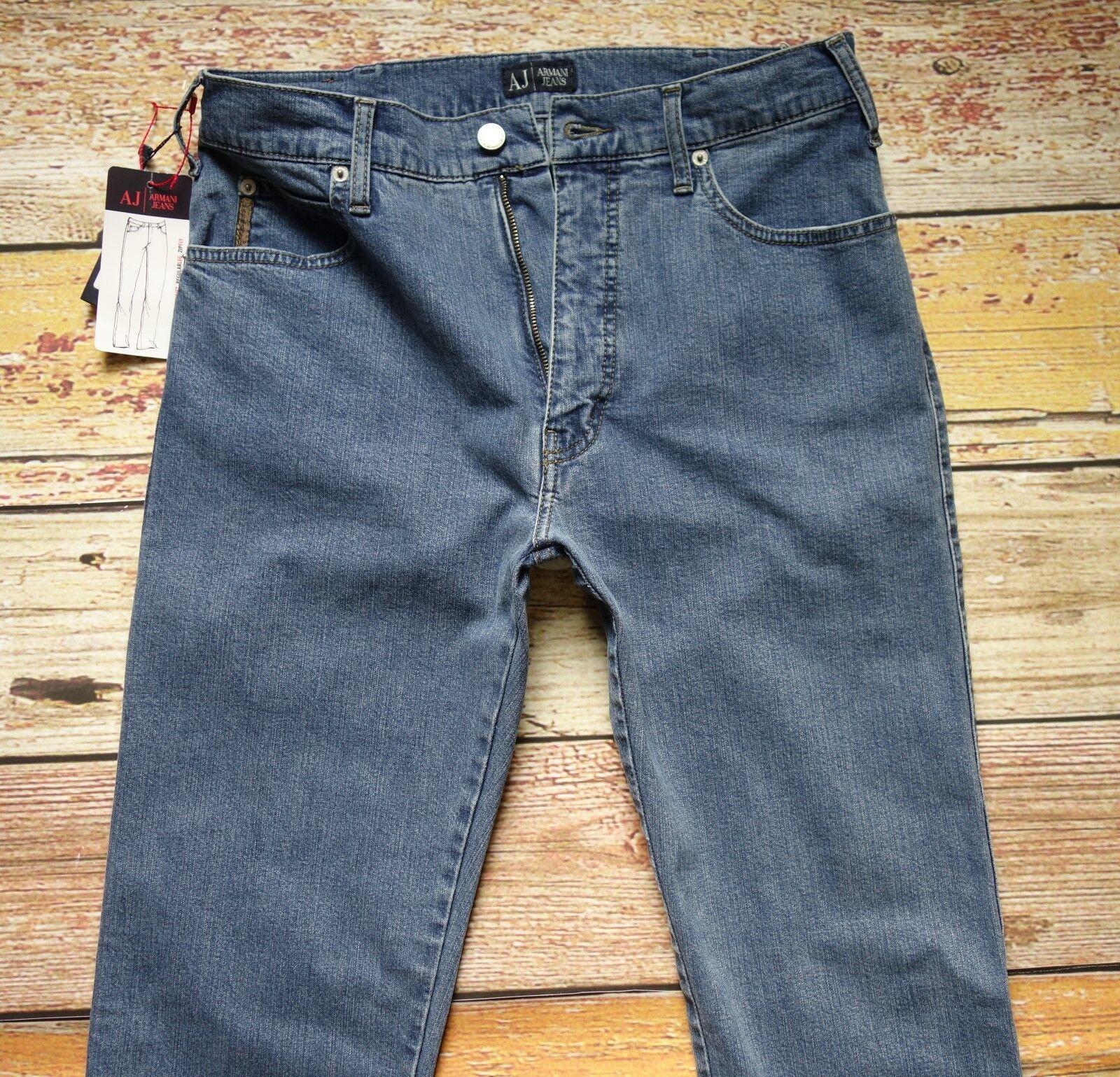 NEW AJ Armani Jeans W31xL34 Regular Fit High Waist Regular Leg Zip Fly Cotton