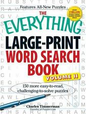 The Everything Large-Print Word Search Book, Volume II: 150 more easy to read...