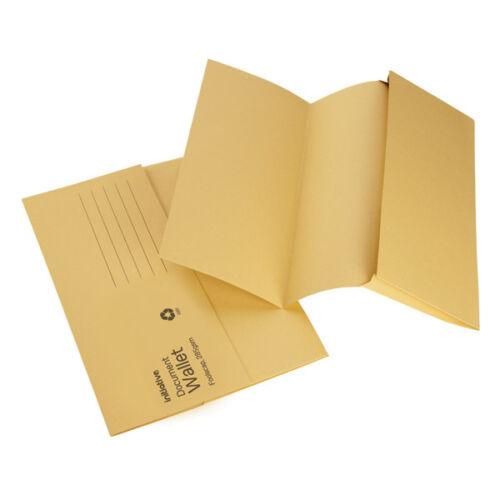 30 x Premium 285gsm Foolscap Document wallet filing folders choice of colours