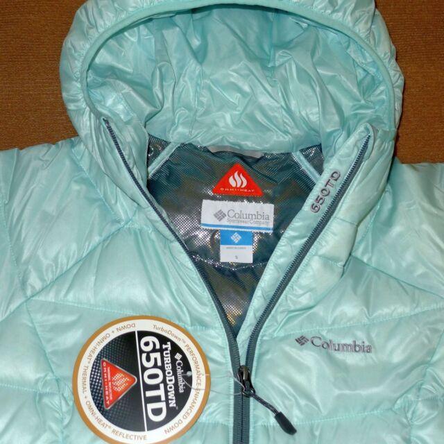 Columbia GOLD 650 TURBODOWN RDL Down Jacket Tradewinds Grey Womens L-1X NEW