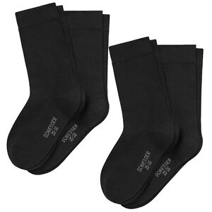 Schiesser-Women-039-s-Socks-4-Pack-Cotton-Fit-Plain-Sizes-35-42