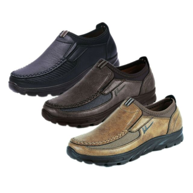 882c63b6 Mens Leather Smart Casual Shoes Breathable Antiskid Loafers Slip on  Moccasins