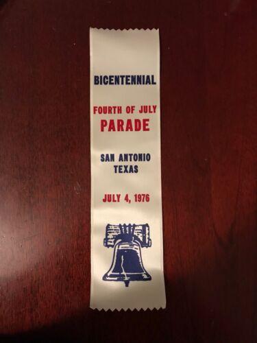 July 4 Fourth of July Parade 1976 Texas San Antonio Bicentennial Ribbon