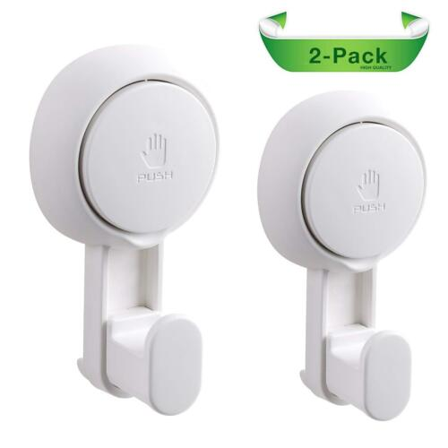 2 Pack Shower Hooks Heavy Duty Vacuum Suction Cups Elegear Suction cup hooks