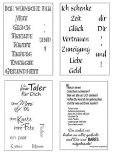 Clear Stamps Efco Silikon Stempel Spruche Texte Fur Geldgeschenke