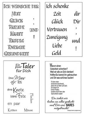 Clear Stamps Efco Silikon Stempel Sprüche Texte Für Geldgeschenke Geburtstag Ebay