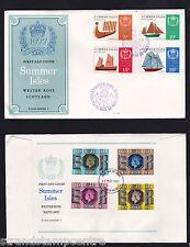 1977 cubierta de Jubileo-Wester Ross-Inverness IED (con sellos de verano islas)