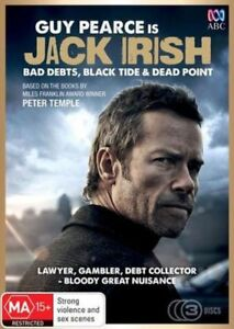 JACK-IRISH-Bad-Debts-Black-Tide-Dead-Point-DVD-3-MOVIES-AUSTRALIAN-BRAND-NEW-R4