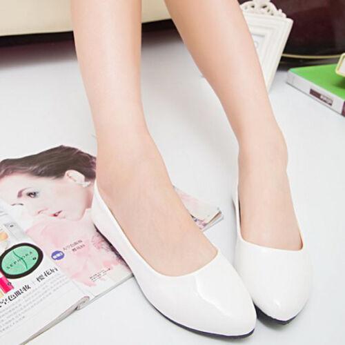 Klassische Damenmode Flache Ballerinas Flats Slipper Freizeit Halbschuhe Schuhe