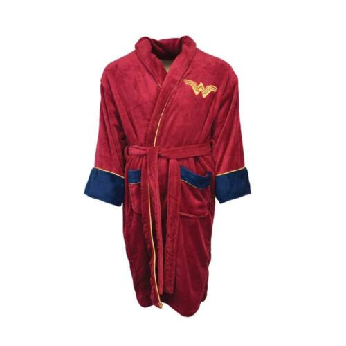 Wonder Woman Bathrobe Fleece Dressing Gown Bathrobe Adult One Size