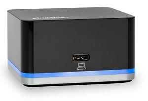 Plugable-Phone-Cube-Transforms-USB-C-Phone-to-a-Desktop-w-HDMI-USB-amp-Ethernet