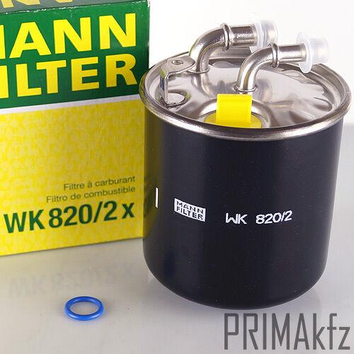 MANN-FILTER Kraftstofffilter WK 820//2 x Mercedes-Benz