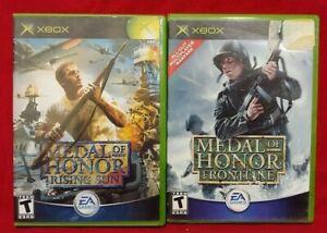 Medal-of-Honor-Frontline-Rising-Sun-MOH-MicroSoft-XBOX-OG-2-Game-War-Lot