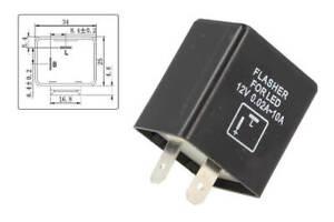 Flasher-LED-Lampeggiatore-Rele-Relay-2-PIN-12V-modello-FLL55F-Frecce-Moto
