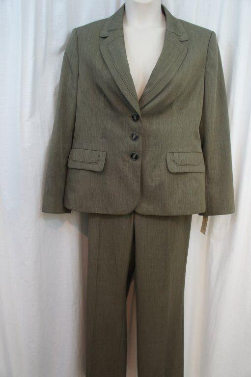 """Evan Picone Pantalon Costume Sz 18 Loden Vert """" Classique Temps """" Affaire"""