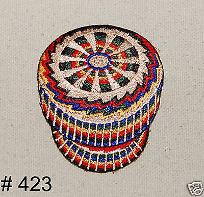 1PC~WEAVED BASKET POTTERY~IRON ON EMBROIDERED PATCH