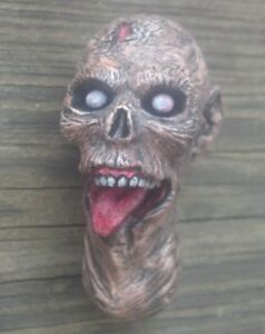 custom painted walking dead zombie head version 6 for 12 inch body