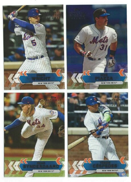 2017 Topps National Baseball Card Day New York Mets Team Set David Wright Piazza