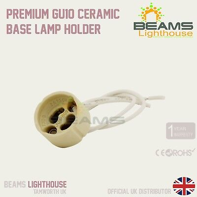 White GU10 Bulb Lamp Holder Mains Base Connector Fitting Cable Lead Downli A0G1