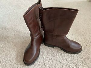 Karnet girls brown leather boots NEW US