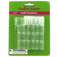 10x Round Plastic Craft Containers With Lids, Beads Pills Jewelery Storage Jar