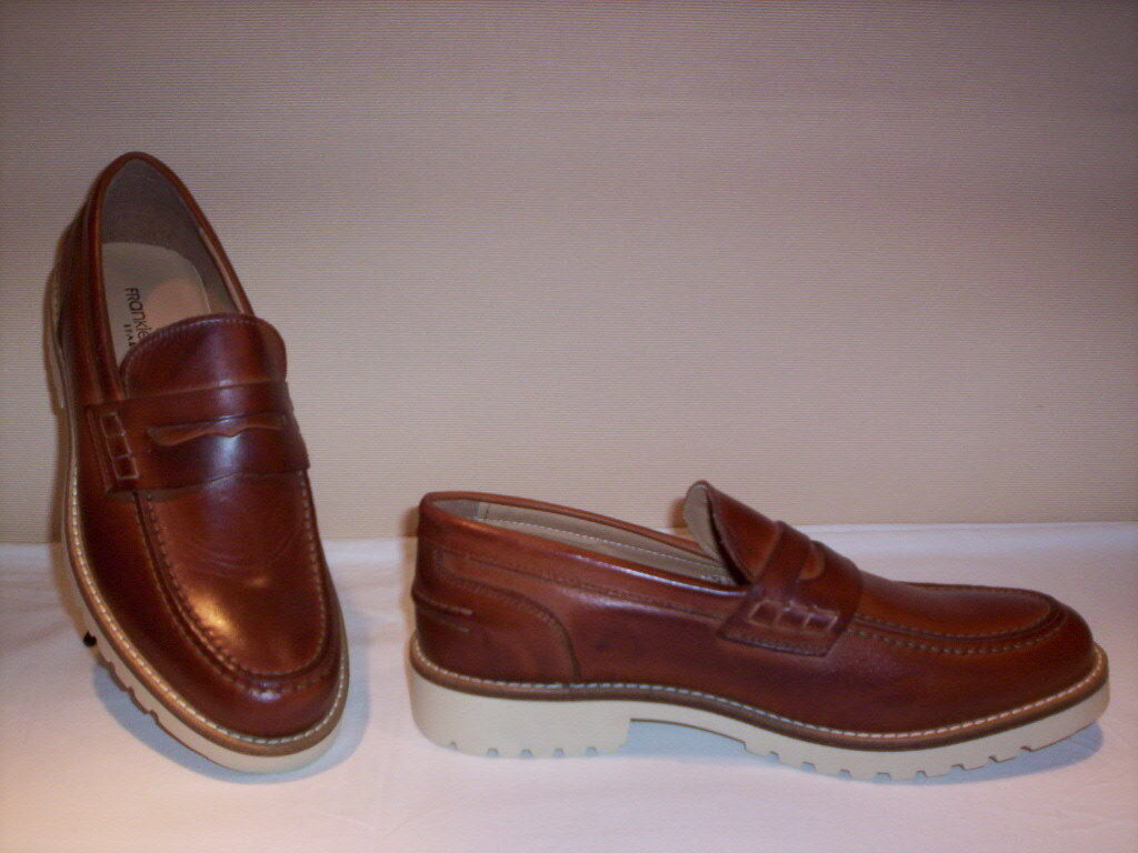 Frankie Model scarpe classiche eleganti mocassini new college uomo pelle marroni new mocassini a6e2d7