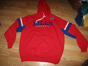 NFL Mens Bills 1//4 Zip Poly Jersey