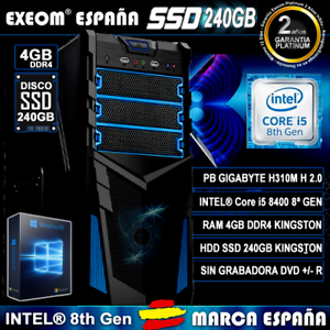 Ordenador-Pc-Gaming-Intel-Core-i5-8400-6xCORES-4GB-DDR4-SSD-240GB-HDMI-Sobremesa