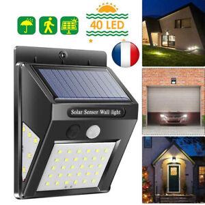 1-4p-LED-Solaire-Lampe-Lumiere-Capteur-de-mouvement-humain-Exterieur-Jardin-IP65