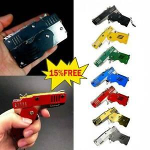 Rubber Band Gun Mini Metal Folding 6-Shot with Keychain 7 Colors HOT!!!