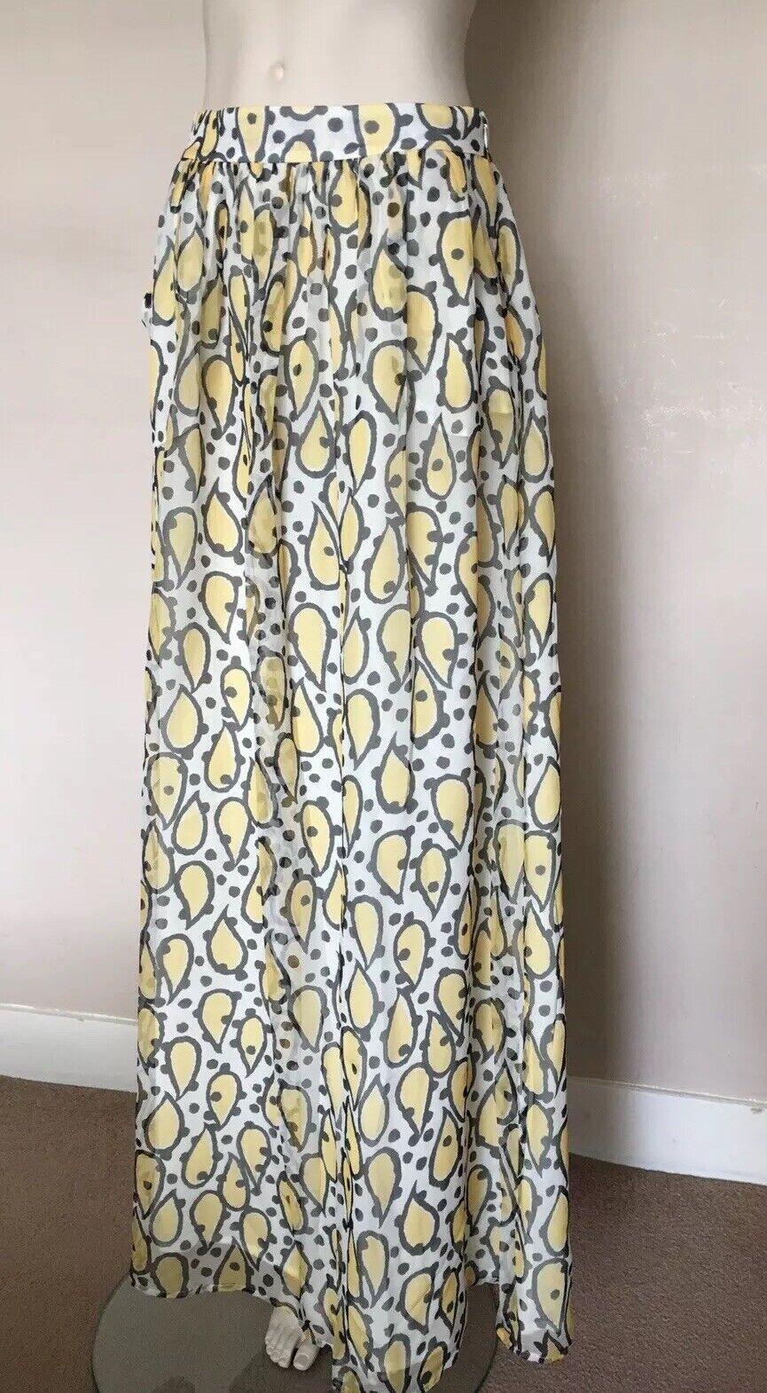 PAUL&JOE,100%Silk, Maxi Skirt, Size 36, S,  10