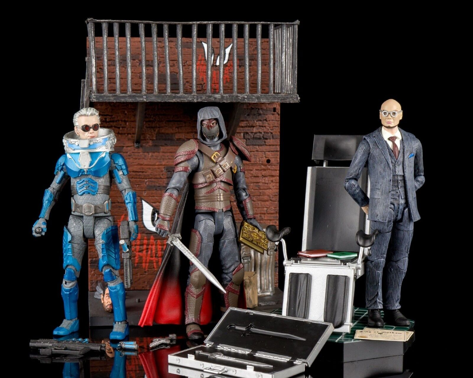 DIAMOND SELECT GOTHAM SELECT SERIES 4 mr freeze,hugo strange,azrael 7