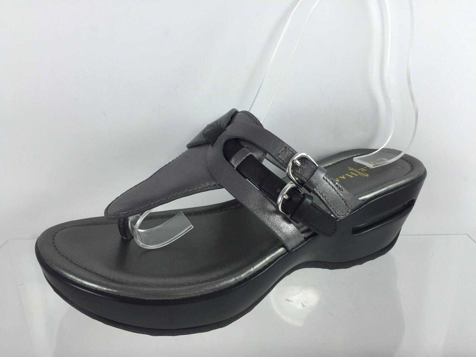 Cole Haan Damenschuhe Silver Leder Flip Flops 5 B