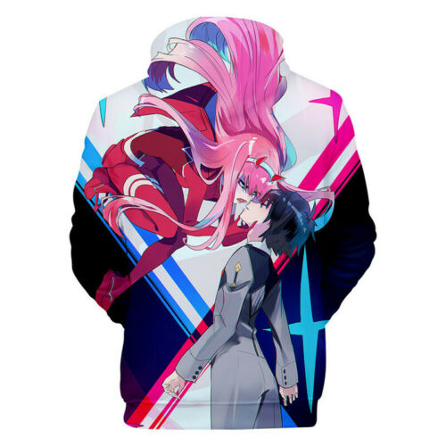 Darling in The Franxx 3D Print Anime Hoodie Sweatshirt Sweater Pullover Coat